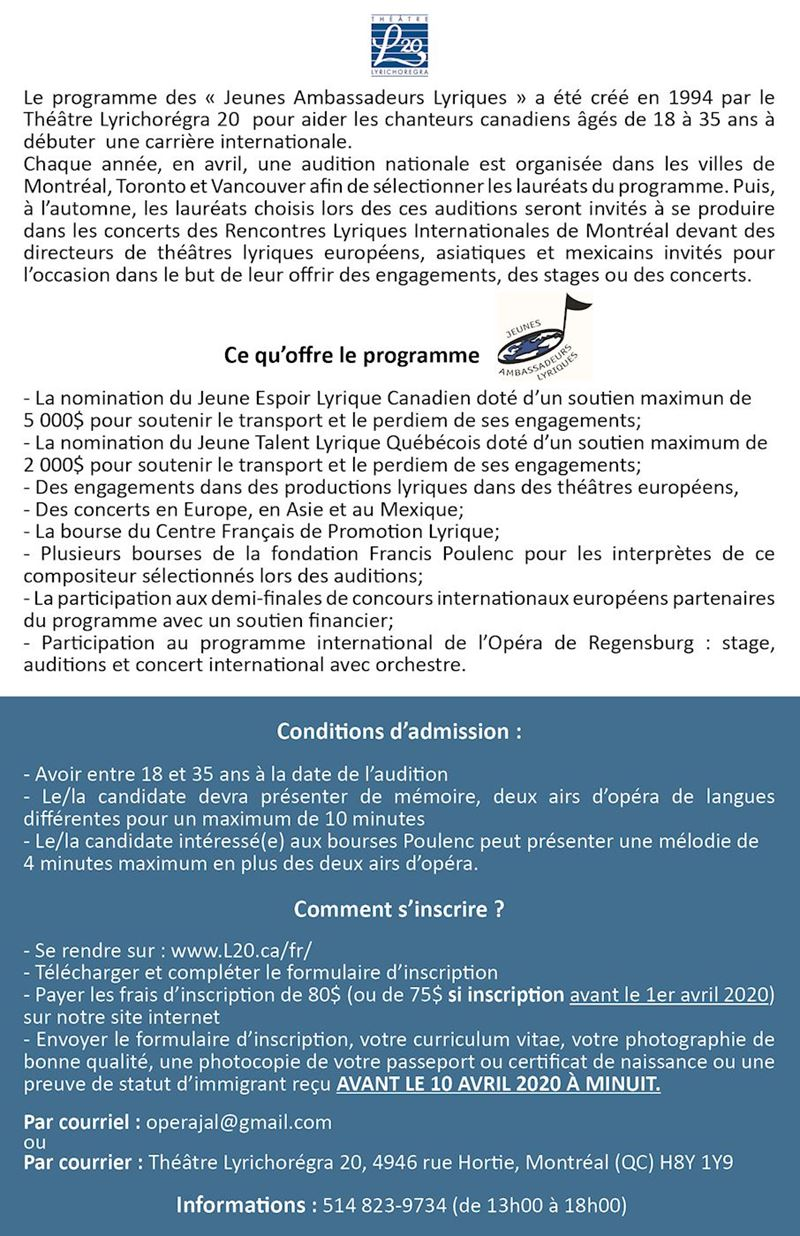 Auditions Lyriques Nationales
