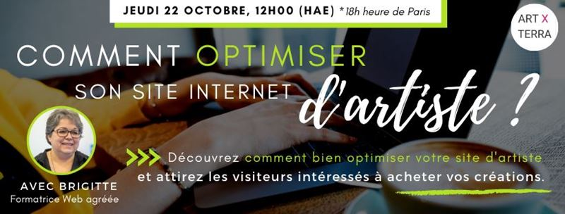 Formation en direct : COMMENT OPTIMISER SON SITE D'ARTISTE?